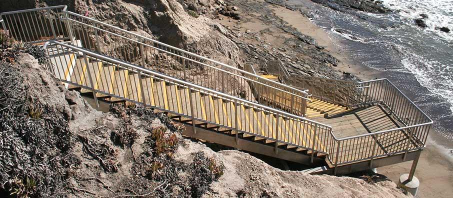 ... Beach Access Stairs, South Palisades Park, Ocean Boulevard, Pismo Beach  ...